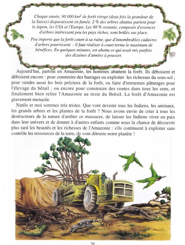 LIVRE FANNY SUR LE FLEUVE AMAZONE intér.couleur